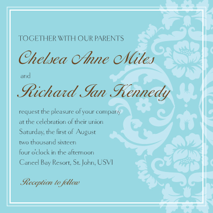 Wedding Invitation - Classic Damask