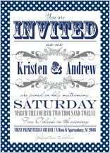 Wedding Invitation - ditsy polka dots