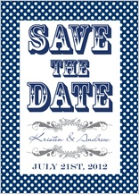 Save the Date Card - ditsy polka dots