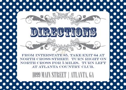 Direction - Ditsy Polka Dots