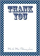 Wedding Thank You Card - ditsy polka dots