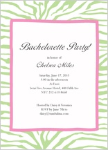 Bachelorette Party Invitation - bachelorette zebra invitation
