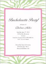 Bachelorette Party Invitation - bachelorette zebra invitation