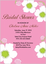 Wedding Shower Invitation - bridal shower poppies