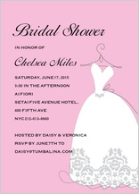 Wedding Shower Invitation - bridal shower dress