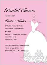 Wedding Shower Invitation - bridal shower dress