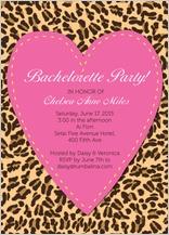 Bachelorette Party Invitation - bachelorette leopard print invite