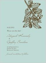 Save the Date Card - elegant acorn