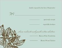 Response Card - elegant acorn