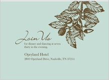 Reception Card - elegant acorn