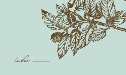 Place Card - Elegant Acorn