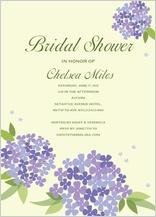 Wedding Shower Invitation - bridal shower hydrangea
