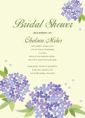 Wedding Shower Invitation - Bridal Shower Hydrangea