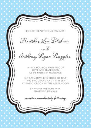 Wedding Invitation - Polka