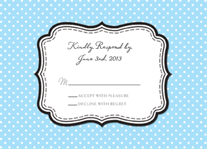 Response Card - Polka