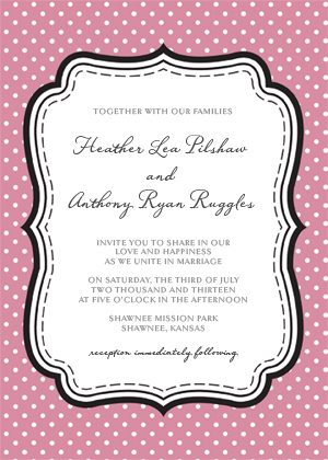 Wedding Invitation - Polka