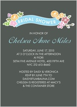 Wedding Shower Invitation - enchanted flowers banner