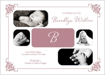 Birth Announcement with photo - precious