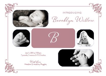 Birth Announcement with photo - Precious