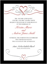 Wedding Invitation - formal heart