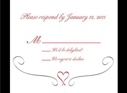 Response Card - Formal Heart