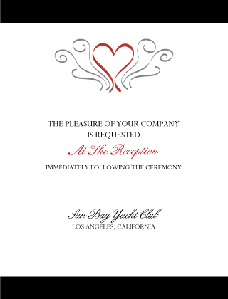 Reception Card - Formal Heart