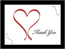 Wedding Thank You Card - formal heart