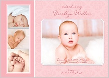 Birth Announcement with photo - graceful