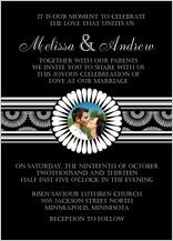 Wedding Invitation with photo - mum wedding