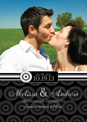 Save the Date Card with photo - Mum Wedding