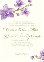 Wedding Invitation - elegant orchids