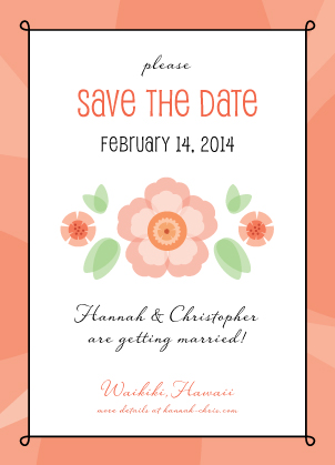 Save the Date Card - Sweet Romance