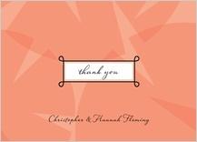 Wedding Thank You Card - sweet romance