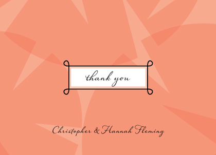 Wedding Thank You Card - Sweet Romance