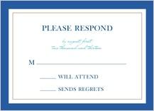 Response Card - peacock