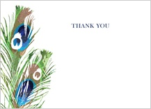 Wedding Thank You Card - peacock