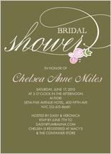 Wedding Shower Invitation - bridal shower rosettes