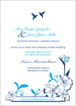 Wedding Invitation - tropical garden
