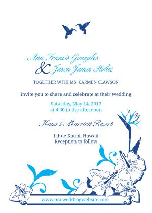 Wedding Invitation - Tropical Garden