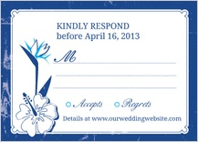 Response Card - tropical garden