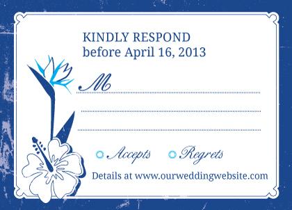 Response Card - Tropical Garden