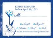 Response Card with menu options