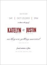 Save the Date Card - the grand affair