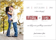 Save the Date Card with photo - the grand affair
