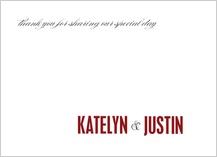Wedding Thank You Card - the grand affair