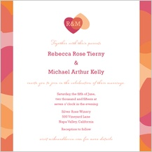 Wedding Invitation - two of hearts