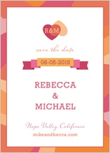 Save the Date Card - two of hearts