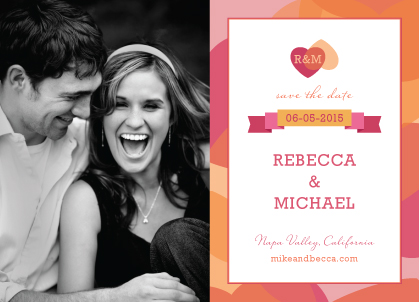 Save the Date Card with photo - Two of Hearts