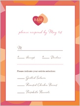 Response Card with menu options - two of hearts