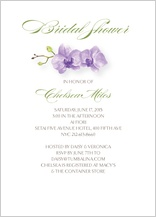 Wedding Shower Invitation - watercolor orchids